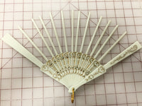 Spanish Fan Ivory Spokes