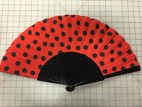 Spanish Fan Polka Dot Red and Black