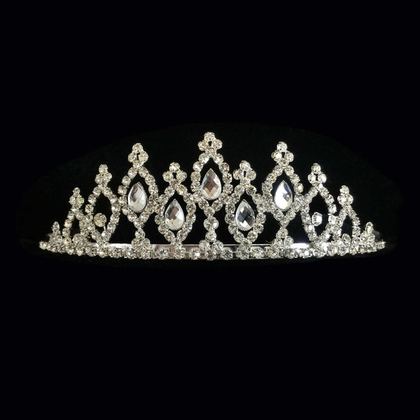 Silver Diamond Tiered Tiara