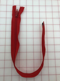 Zippers 18-inch  Red Separating