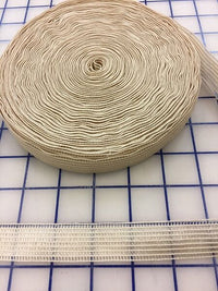 Elastic Invisible Mesh 1 inch Wide Beige