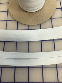 Bias Tape: Center Fold 1-inch Wide White