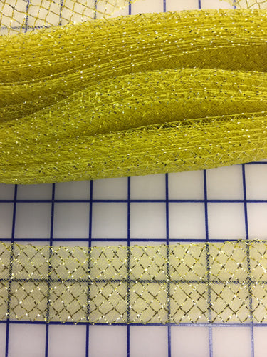 Horsehair: 1.5-inch Waffle Ribbon Gold
