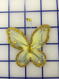 Butterflies - #BF2000 Gold Small