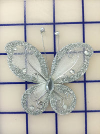 Butterflies - #BF2000 Silver Small