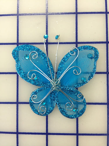 Butterflies - #BF2000 Turquoise Small