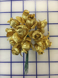 Flowers - Rose Buds Gold