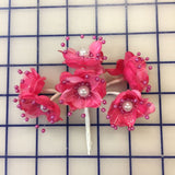 Flowers - Fuchsia with Pearls