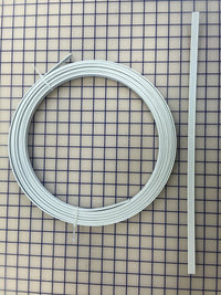 Hoopwire - Single Wire Plastic-Coated Steel 1/2 Inch White - Enough for One Tutu