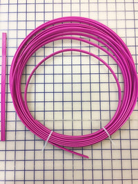 Hoopwire - Single Wire Plastic-Coated Steel 3/8 Inch Fuchsia - Enough for One Tutu