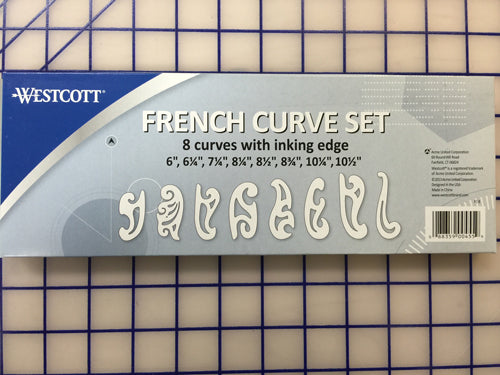 Ruler - French Curves Set of 8