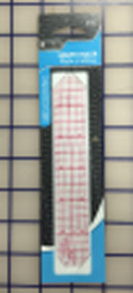 Ruler - 6 inch Standard 1 inch Wide Red