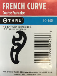 Ruler -  French Curve #FC340
