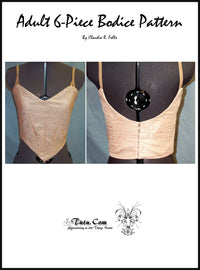 Bodice Pattern - Adult 6 Piece Design By Claudia Folts