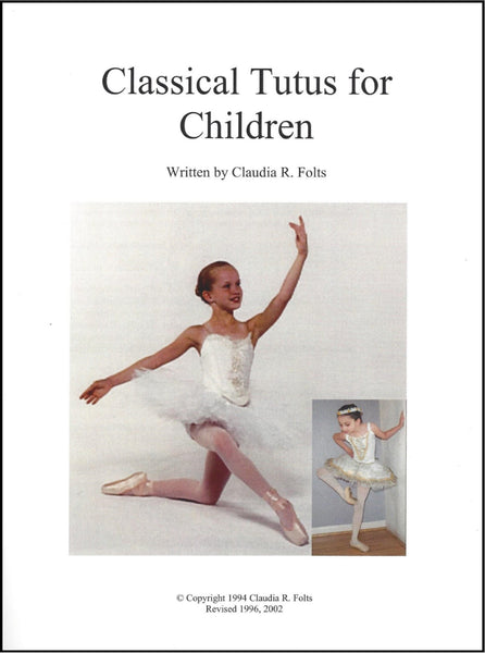 Tutu & Bodice Kit: Child's Classical Russian-Style Hooped Tutu & 6 or 8 Piece Bodice