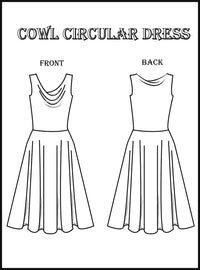Dance Dresses Course Kit: Cowl Neck Lycra Ballet Dress