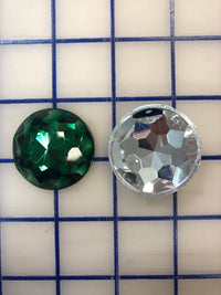 Decorative Gems - 1.5-inch Round Sew-On Gems Emerald 3-Pack SPECIAL PURCHASE!