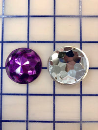 Decorative Gems - 1.5-inch Round Sew-On Gems Purple 3-Pack SPECIAL PURCHASE!