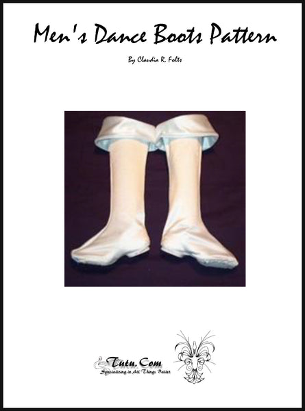 Miscellaneous Patterns - Stretch Dance Boot Top Pattern By Claudia Folts