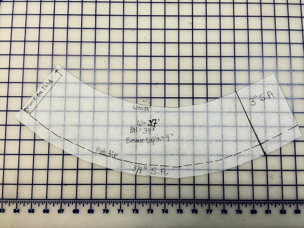 Pattern Services - Lengthening/Shortening Bodice Pattern