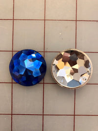 Decorative Gems - 1.25-inch Medium Round Sew-On Gems Sapphire 3-Pack SPECIAL PURCHASE!