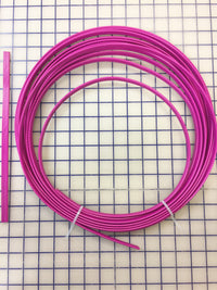 Hoopwire - Single Wire Plastic-Coated Steel 3/8 Inch Raspberry Pink