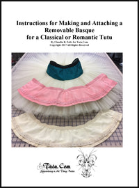 Instructions: Making a Removable Basque for Classical or Romantic Tutus