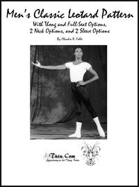 Leotard Pattern - Men's Short-Sleeve Style By Claudia Folts