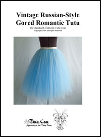 Instructions: Russian-Style Gored Romantic Tutu