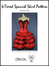 Skirt Pattern - Spanish Ruffle Tiered Design by Claudia Folts