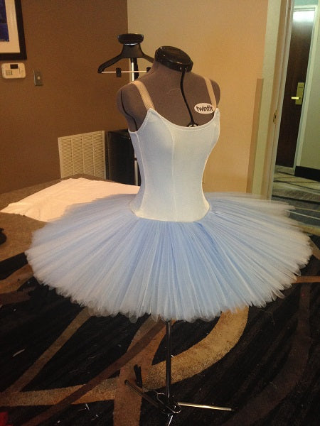 Stretch Tutu Camisole Top with Low Back Pattern