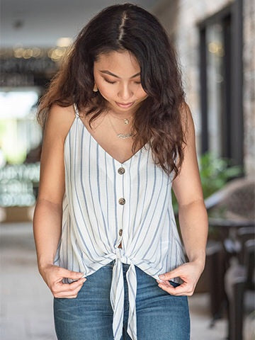 Forever In Stripes Tie Tank