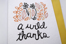 Wild Thanks Card