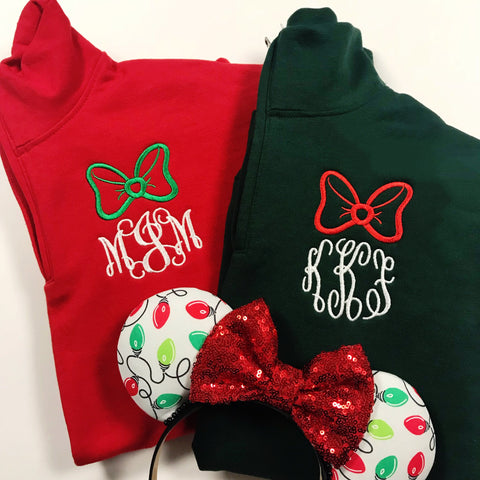 Christmas Bow Long Sleeve Tee