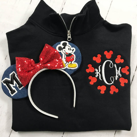 CUSTOMIZABLE Mouse Monogram Pullover