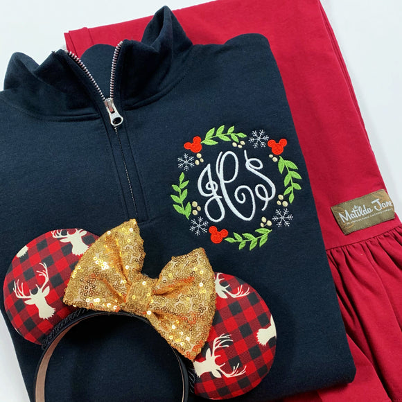 Holly Wreath Sweatshirt