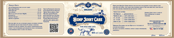 500mg 60ml Pet CBD Oil / Hemp Joint Care Soft Chews 60ct Bundle Deal ( Free Bag)