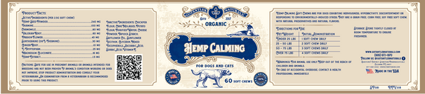 (2) 250mg 30ml Pet CBD Oil / Hemp Calming Soft Chews 60ct Bundle Deal ( Free Bag)