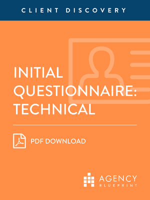 Initial Questionnaire (Technical)