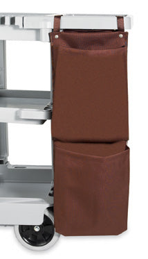 H1S 2 Pocket Housekeeping Cart Caddy Bag - 12