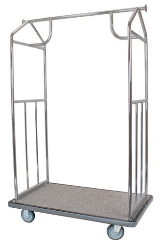 H1S Brushed Stainless Steel All-In-One Bellman's Cart**
