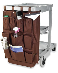 "H1S 12 Pocket Caddy Bag 21"" x 32"" - Brown - (24 Bags Per Case)"