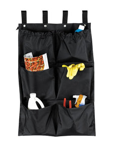 "H1S 6 Pocket Caddy Bag 19"" x 32"" - Black - (24 Bags Per Case)"