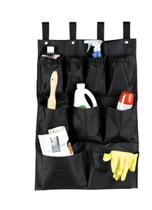 "H1S 9 Pocket Caddy Bag 19"" x 32"" - Black - (24 Bags Per Case)"