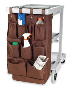 "H1S 9 Pocket Caddy Bag  19"" x 32"" - Brown - (24 Bags Per Case)"