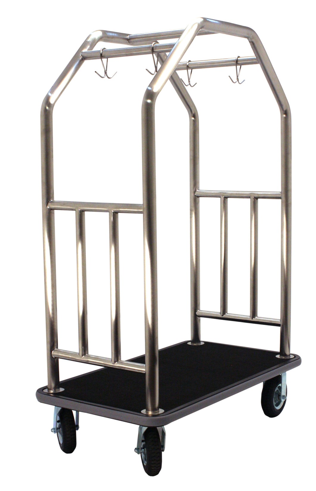 H1S Estate Series Bellman's Cart - Brushed Stainless Steel