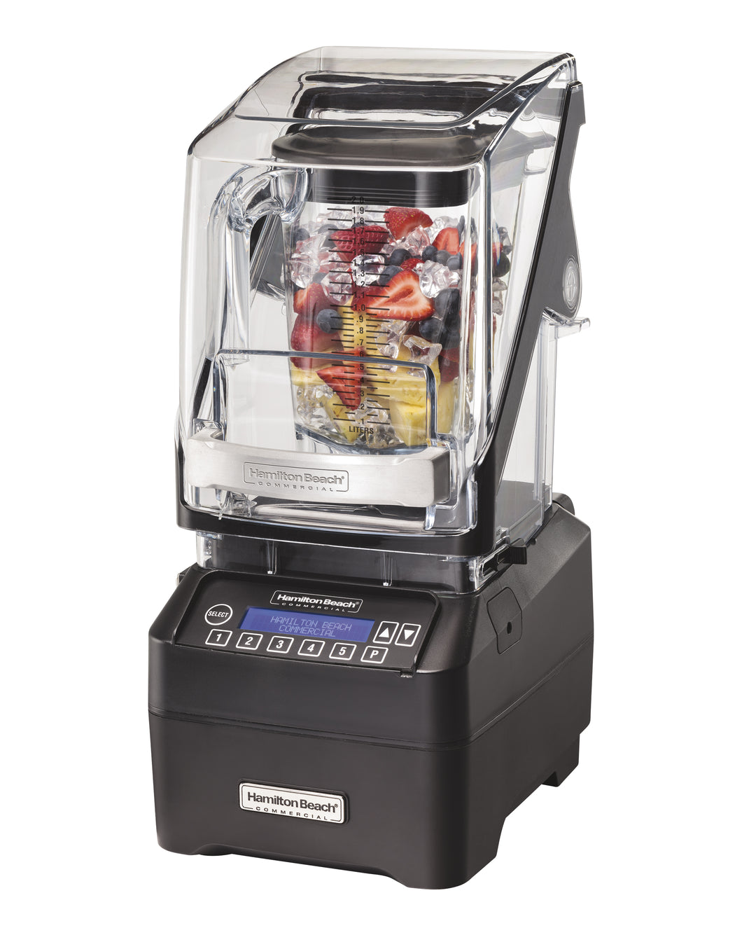 Hamilton Beach Commercial HBH755 Eclipse, 3 HP, Quiet Blend Technology, 5 program buttons, pulse, Quiet Shield, 64oz/2L Container