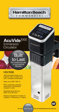 Load image into Gallery viewer, Hamilton Beach Commercial HSV1000 1200W Immersion Circulator, 8 gallons / 30 liters