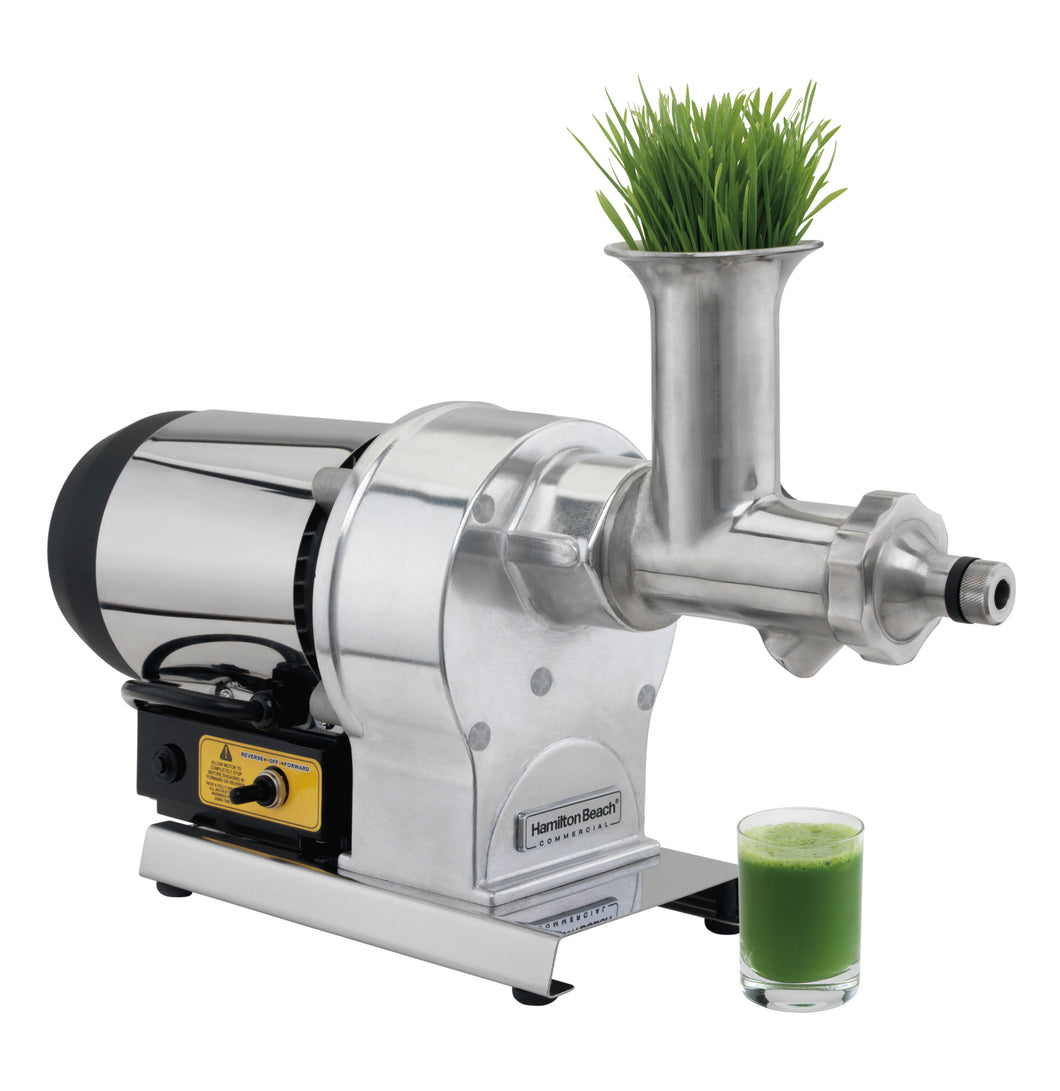 Hamilton Beach Commercial HWG800 Electric Wheatgrass Juicer, with Stainless Steel Head, Auger and Screen.