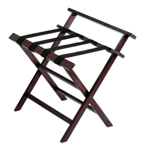 H1S Aristocrat Wood Luggage Rack w/Backrest (4 Racks Per Case)